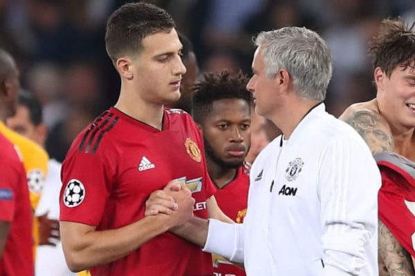 Jose Mourinho is interested in Manchester United right-back Diogo Dalot
