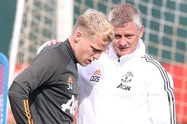 Solskjaer has insisted Donny van de Beek is working hard